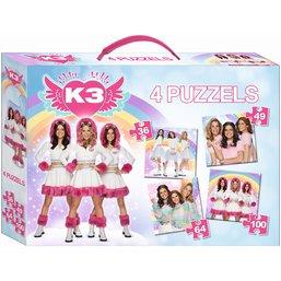 Puzzel K3 4 in 1: 36/49/64/100 stukjes
