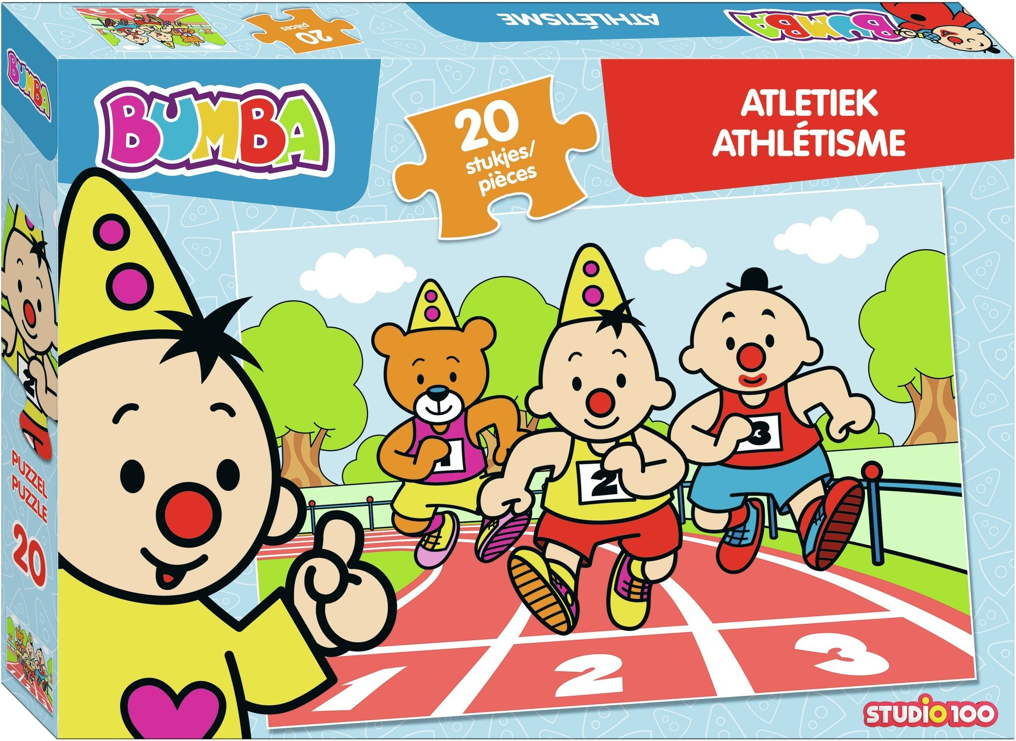 Puzzel Bumba atletiek: 20 stukjes