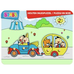 Puzzel Bumba hout auto: 7 stukjes