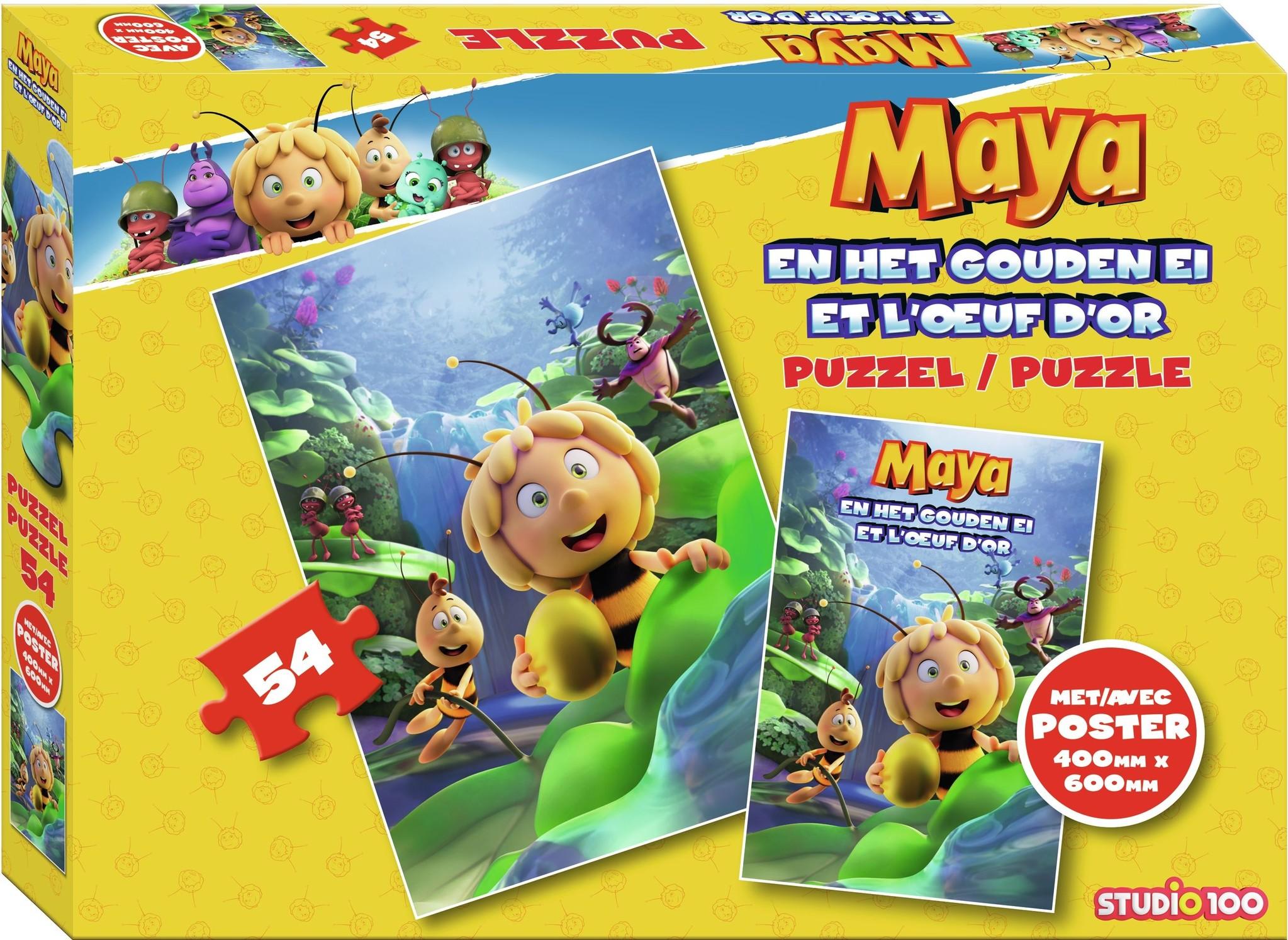 Maya de Bij Puzzel Maya en het gouden ei: 54 stukjes