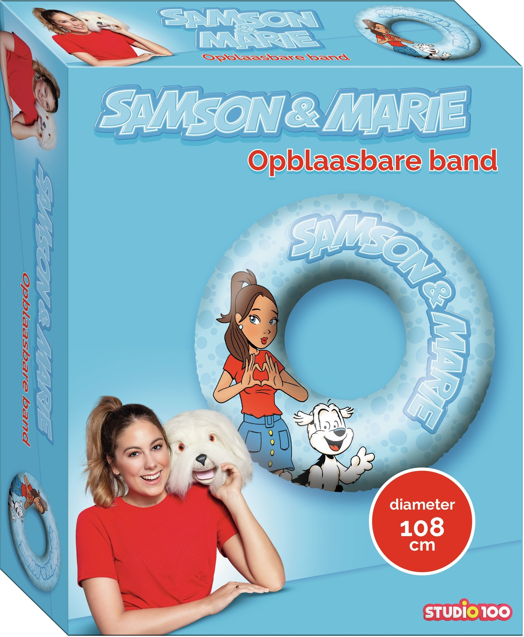 Opblaasbare band Samson en Marie: 108 cm