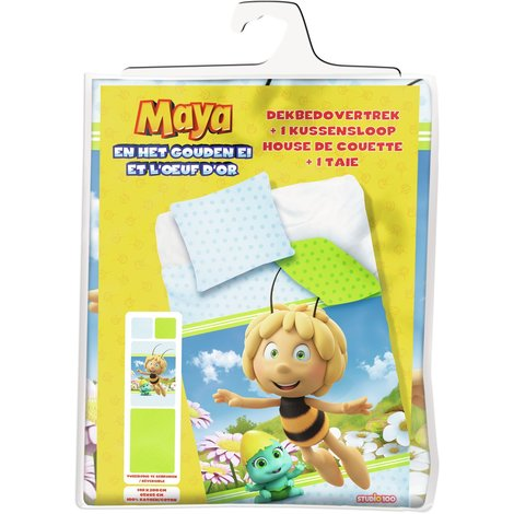 Maya de Bij Dekbedovertrek Maya en het gouden ei: 140x200/65x65 cm