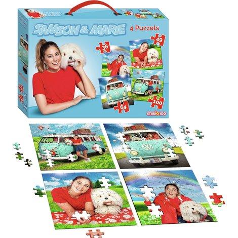 Samson & Marie puzzle 4 en 1