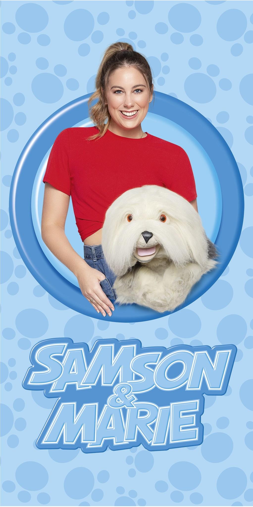 Samson & Marie drap de plage: 75x150 cm
