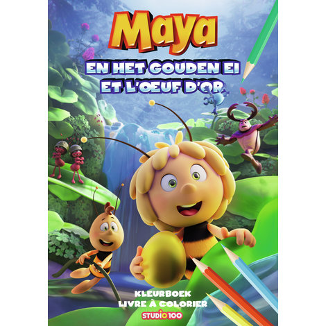 Kleurboek Maya: Maya en het gouden ei