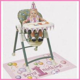 versierset kinderstoel Pink Balloons