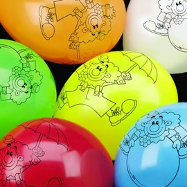 Ballonnen clown (6st)