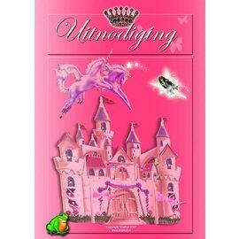 Uitnodigingen Prinses (8st)