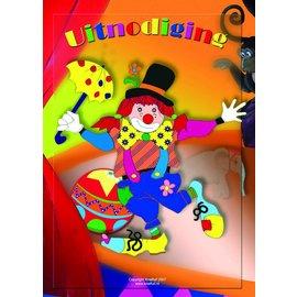 Uitnodigingen Clown (8st)