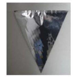 Vlaggenlijn zilver metallic