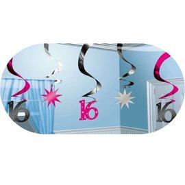 Deco Swirls Sweet Sixteen (5st)
