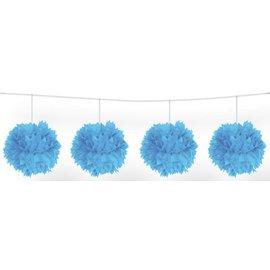 Pom-Pom slinger (blauw) 3mtr