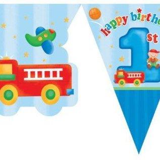 Vlaggenlijn 1e verjaardag (jongen)