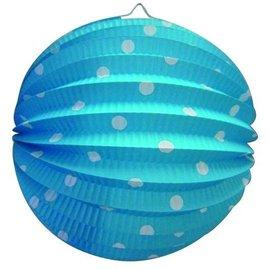 Bollampion Blauw met witte stippen
