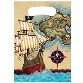 Feestzakjes Pirate's Map (8st)