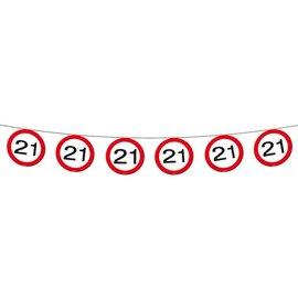 vlaggenlijn 21 jaar (12mtr)