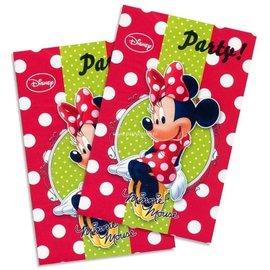 Uitnodigingen Minnie Mouse kinderfeestje (6st)