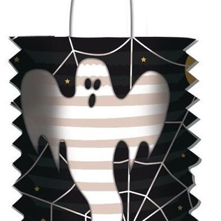 Lampionnen; Treklampion spook (ca 16 cm)