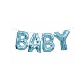 """ballon letterslinger """"baby"""" blauw"""