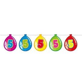 Vlaglijn 5 jaar (balloons)