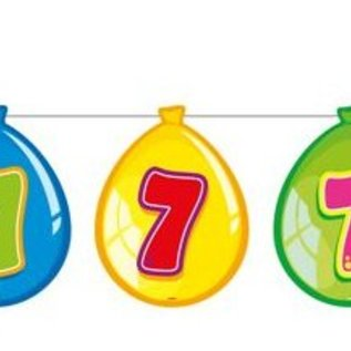 Vlaglijn 7 jaar (balloons)