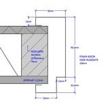 Berkvens® Berdo stalen deurkozijn 100 mm opdek - 2115 mm reinwit (incl. dorpel)