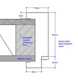 Berkvens® Berkvens® Berdo stalen deurkozijn 100 mm opdek - 2115 mm reinwit (incl. dorpel)