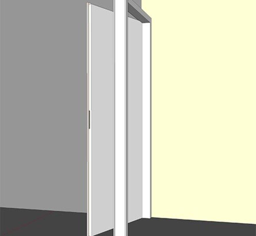 Binnendeurkozijn hardhout 56 x 115 mm wit-gegrond opdek