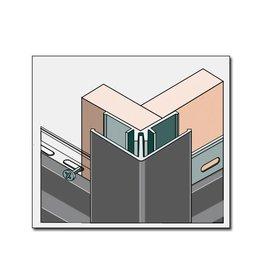Fortalit Fortalit buitenhoekprofiel + montagedeel 600cm