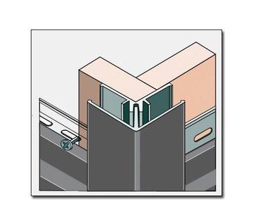 Fortalit buitenhoekprofiel + montagedeel 600cm