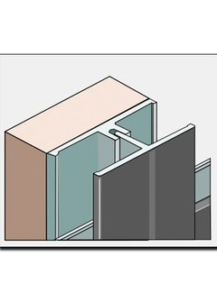 Fortalit verbindingsprofiel + montagedeel 600cm