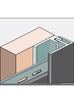 Fortalit eindprofiel + montagedeel 600cm