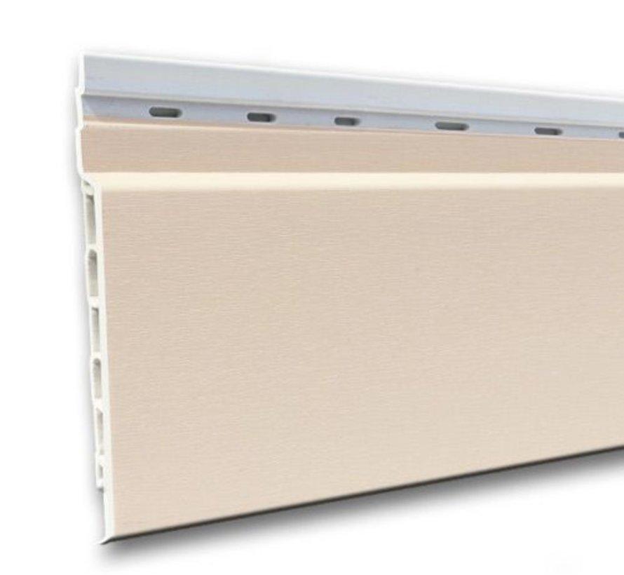 Fortalit kunststof rabat Creme RAL 9001 17 mm 600 x 15cm