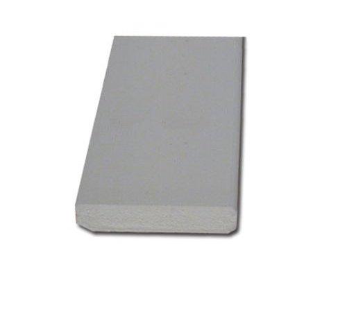 Plint mdf 12 x 55 mm wit-gegrond 488cm - v313