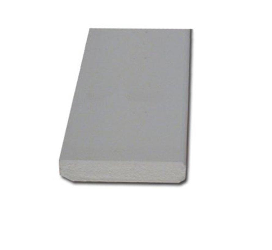 Plint MDF 12 x 70 mm wit-gegrond 488cm - v313