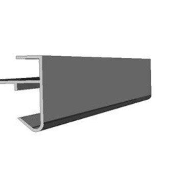 Roval daktrim aluminium 45 x 45 mm lengte 250cm
