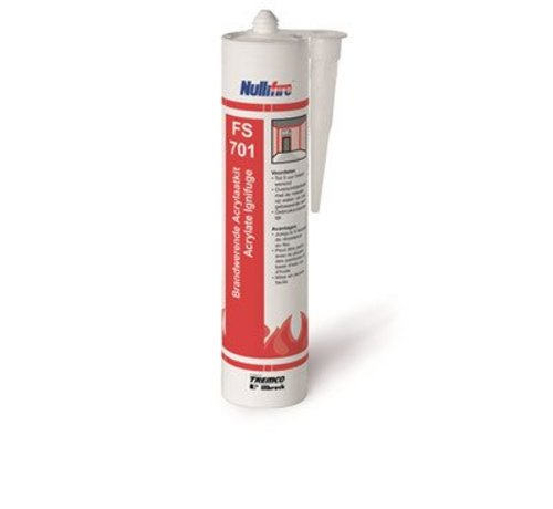 Nullifire brandwerende acrylaatkit wit 310ml