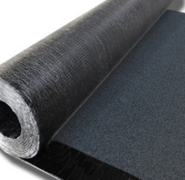 Icopal bitumen dakbedekking 470K24 met zwarte leislag