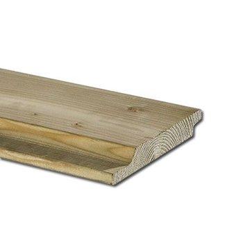 Geimpregneerd vurenhout halfhouts rabat 22 x 150 mm lengte 360cm