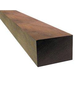 Hardhout azobe ruw 100 x 100 mm 300cm
