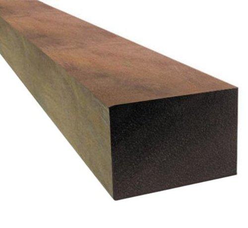 Hardhout azobe ruw 70 x 70 mm 300cm