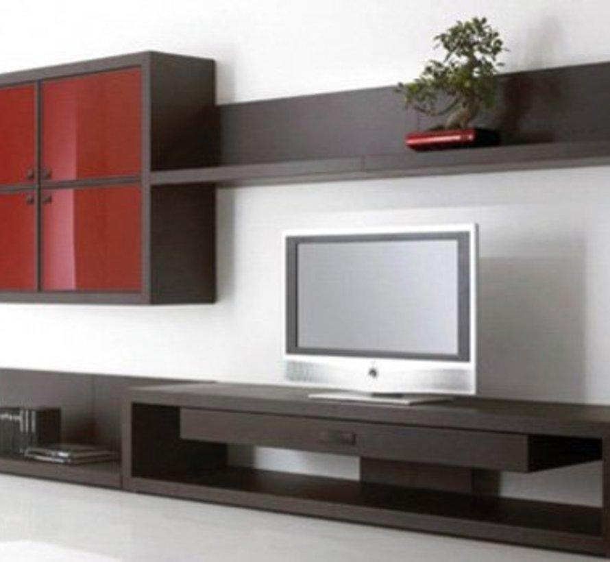 Valchromat® MDF gekleurd zwart door en door 19 mm 244 x 61cm