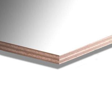 Okoume garantieplaat 15 mm gegrond 250 x 122cm
