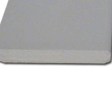 Plint MDF 12 x 120 mm wit-gegrond 488cm - v313