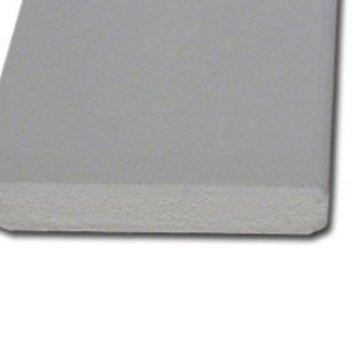 Plint MDF 12 x 90 mm wit-gegrond 488cm - v313