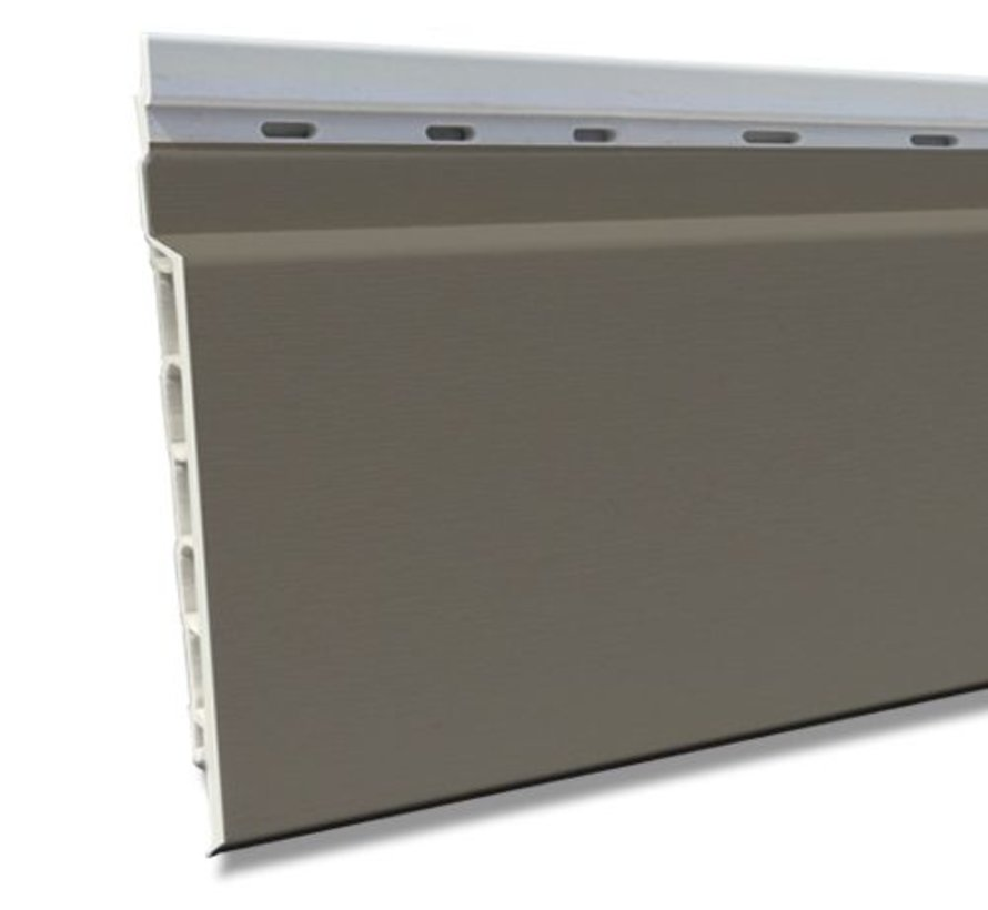 Fortalit kunststof rabat Kwartsgrijs RAL 7039 17 mm 600 x 15cm