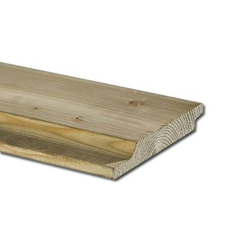 Geimpregneerd vurenhout halfhouts rabat 22 x 150 mm lengte 420cm