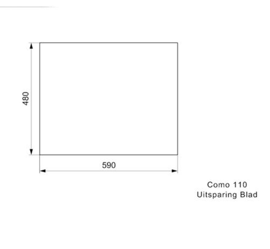 Reginox spoelbak Como Bianco Titano 54.5x40 110