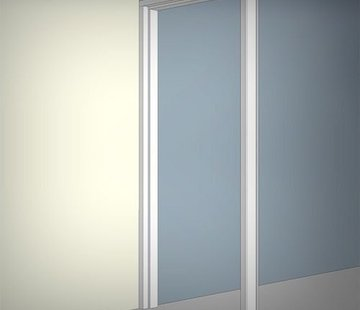 Binnendeurkozijn hardhout 56 x 90 mm wit-gegrond stomp