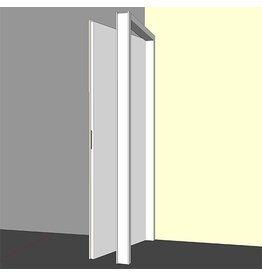 Binnendeurkozijn hardhout 56x90mm wit gegrond - opdek